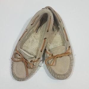 Lucky Brand Tan Moccasins